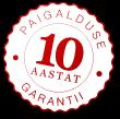 10 aastat paigalduse garantii