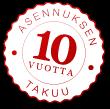 10-vuoden takuu asennukselle